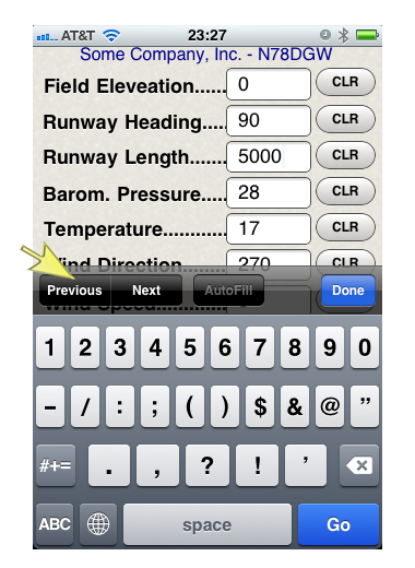 Aircraft Performance iPhone app