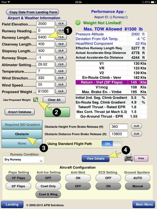 takeoff and landing performance solutions for Fundamentals of airplane flight mechanics  (performance),  this text is primarily concerned with analytical solutions of airplane flight.